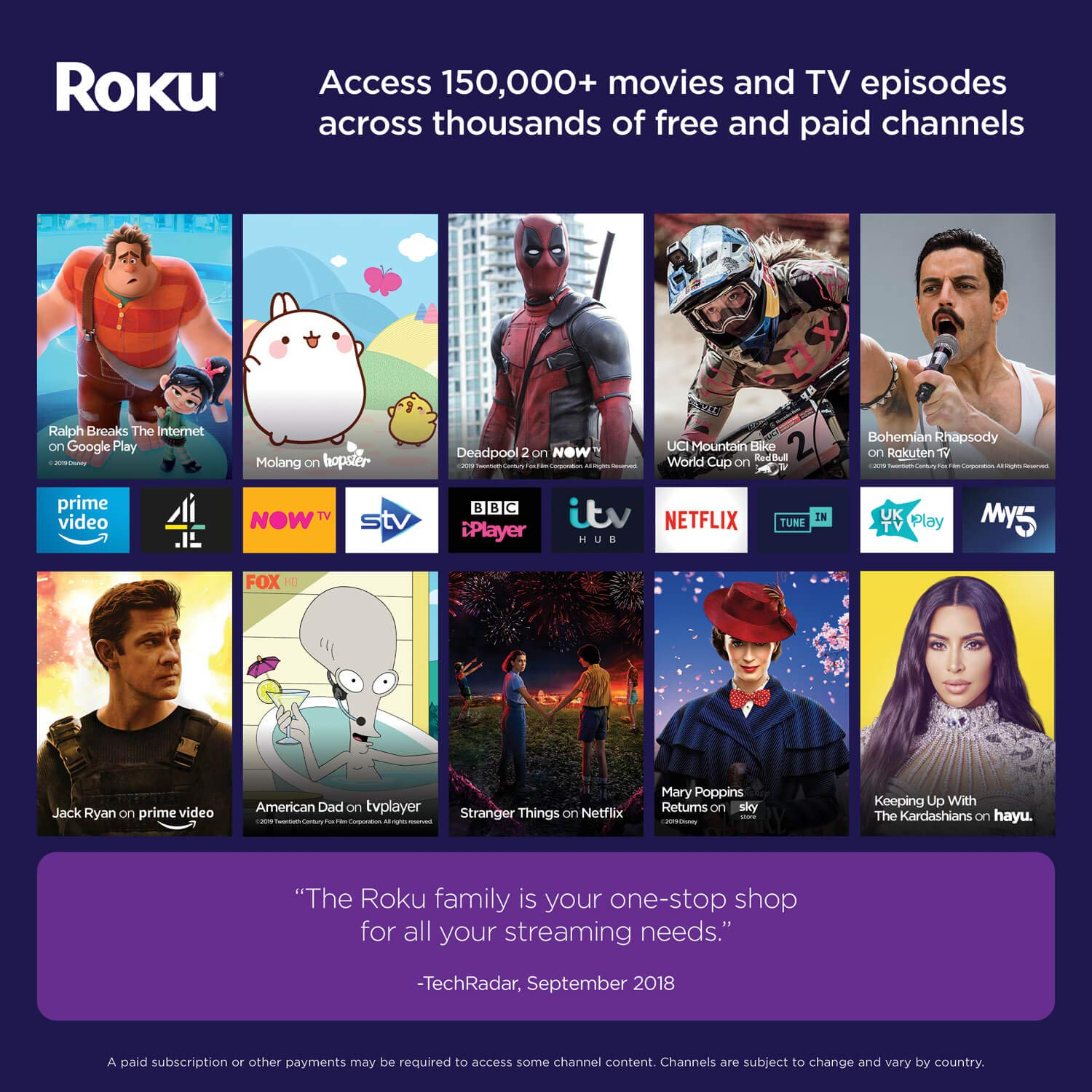 Roku Streaming Stick+ | HD/4K/HDR Streaming Media Player