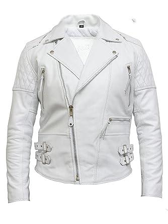cc8499336cf5 Brandslock pour homme Veste de moto en cuir en aniline douce Cacher  Amazon. fr  Vêtements et accessoires