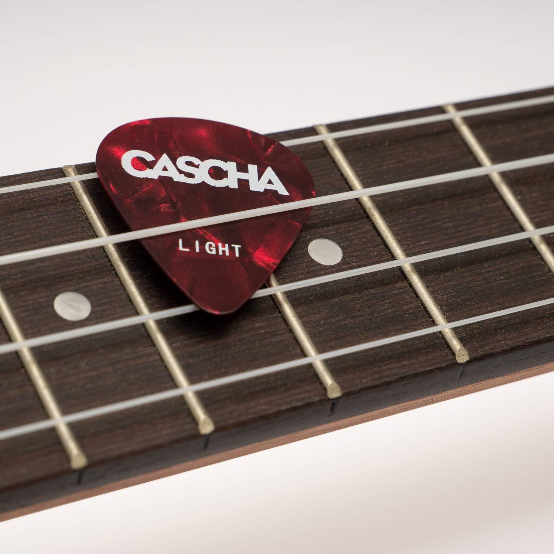 CASCHA HH 2002 Juego de 12 púas para guitarra acústica y eléctrica: Amazon.es: Instrumentos musicales