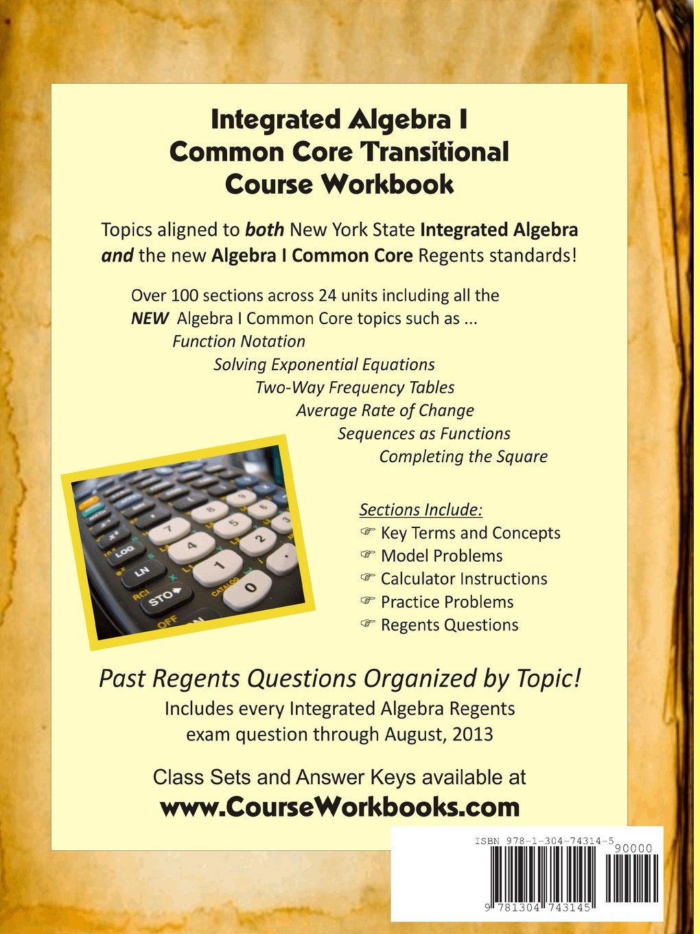 Amazon.com: Integrated Algebra I Common Core Transitional Course ...