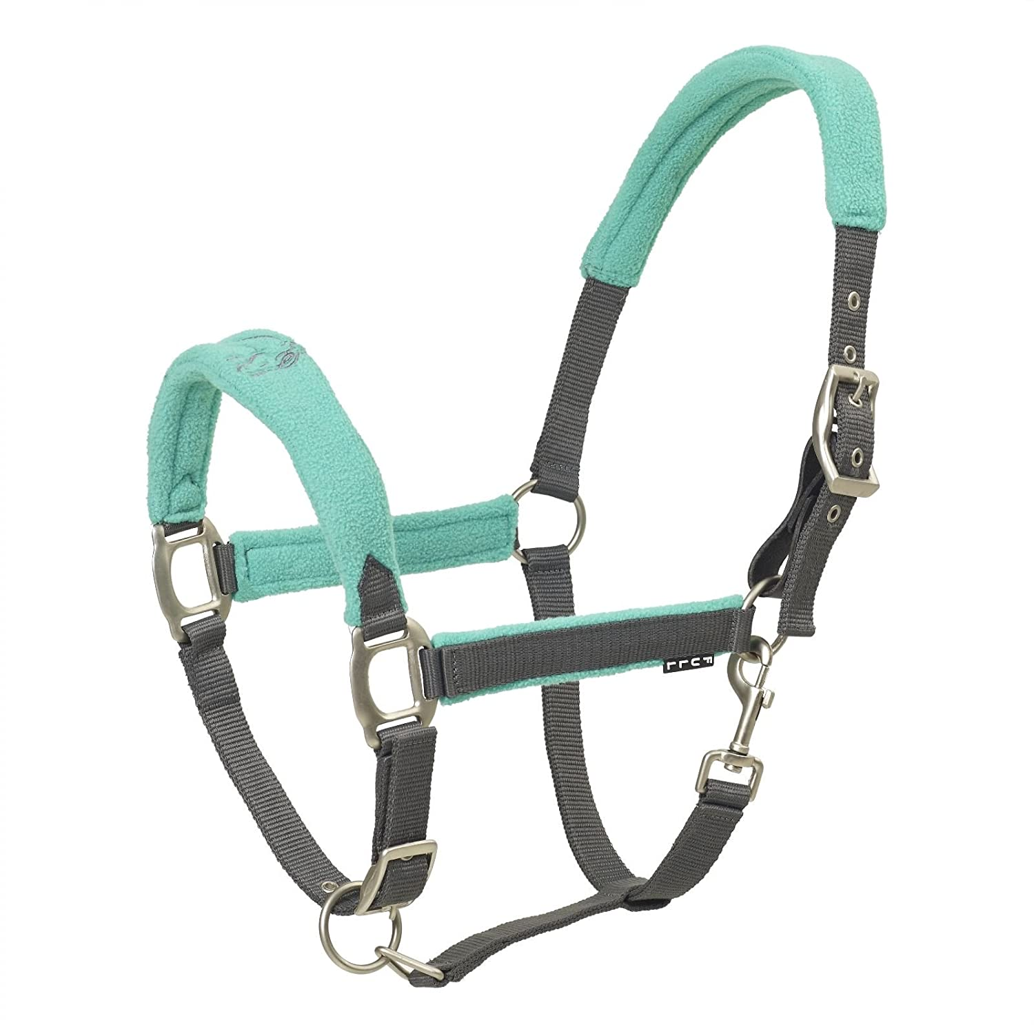 Centaur Fleece Cushion Breakaway Halter Size Cob color Grey Aqua