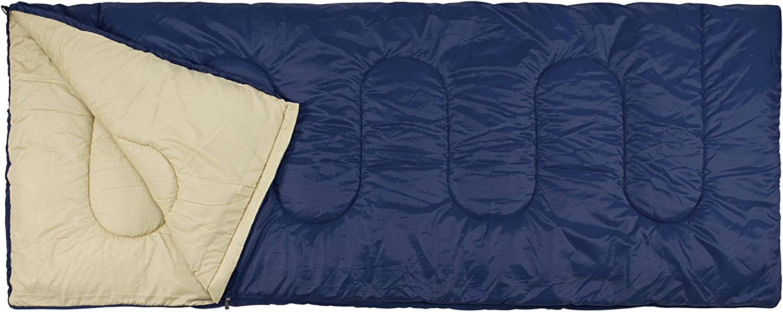 4 Grad Schlafsack Koppelbar Camp Deckenschlafsack Wasserabweisend Komfort Temp
