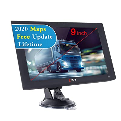Xgody GPS Navigation for Car Truck, Vehicle GPS Satellite Navigator System with Free Lifetime Maps, 9 Inch HD Touch Screen, 8GB Voice Broadcast Function, Driving Alert: GPS & Navigation [5Bkhe0804346]