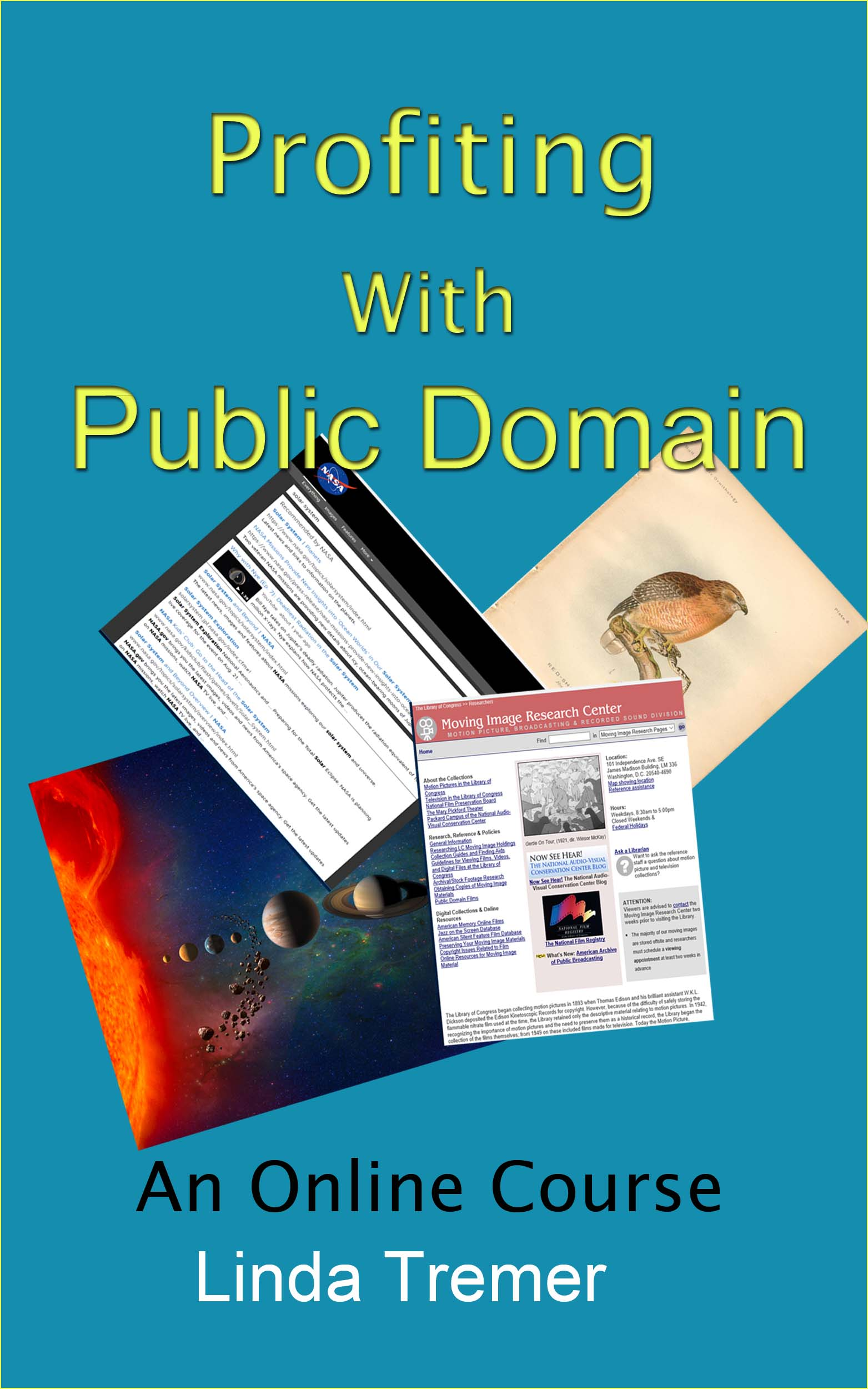 Profiting With Public Domain - Discover the Secrets to Making Money With  Public Domain.(Online Course) [Online Code] by Linda Tremer