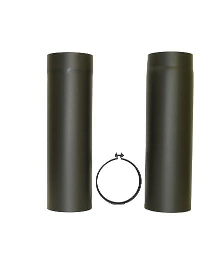 lanzzas humo Tubo estufa (Tubo Tubo telescópico resistente al deslizante de oído con anillas y