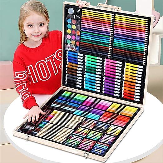 JFMBJS 258 PCS Pintura para Niños, Caja De Madera Pintura Dibujo ...