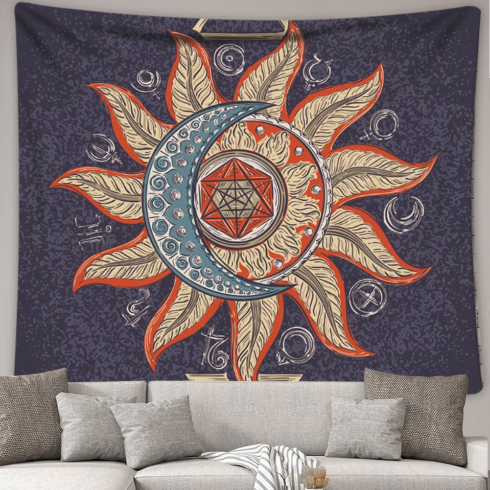 """iLeadon Tapestry Grey Tree Wall Hanging 60/""""H x 80/""""W, Grey Tree Polyester Fabric Wall Decor for Bedroom"""