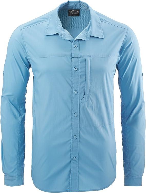Katmandú Ken Camisa de senderismo para hombre, hombre, color Dusky Blue, tamaño XS: Amazon.es: Deportes y aire libre