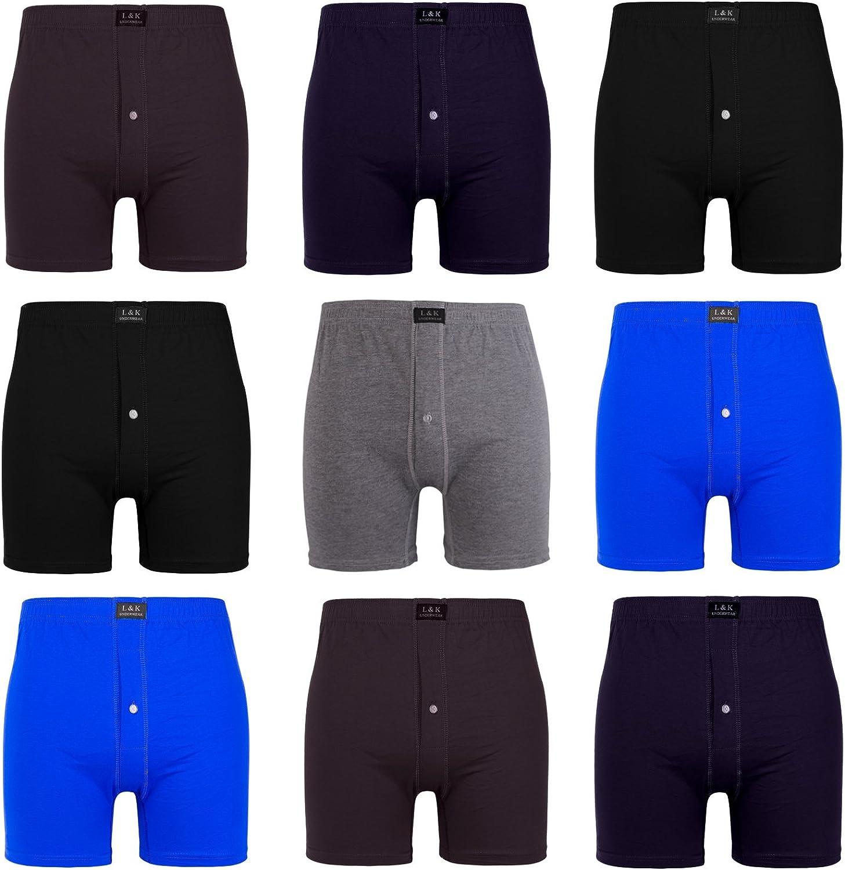 95/% coton-LIVRAISON GRATUITE Scruffs Hommes Twin Pack Boxers