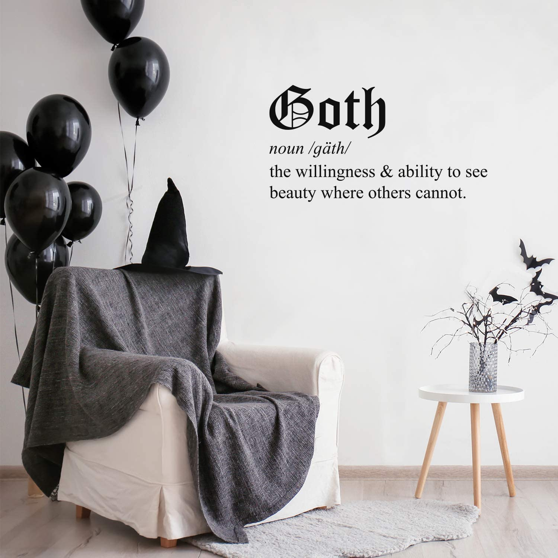 Vinyl Wall Art Decal - Goth - 16