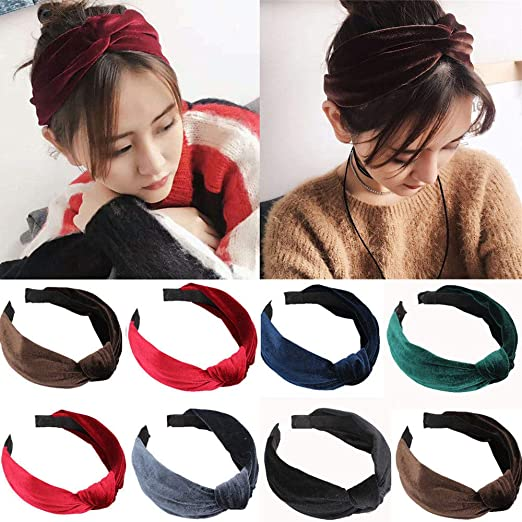 Outtop(TM) Womens Headband Twist Hairband Bow Knot Cross Tie Velvet  Headwrap Hair Band 6cb0522319d