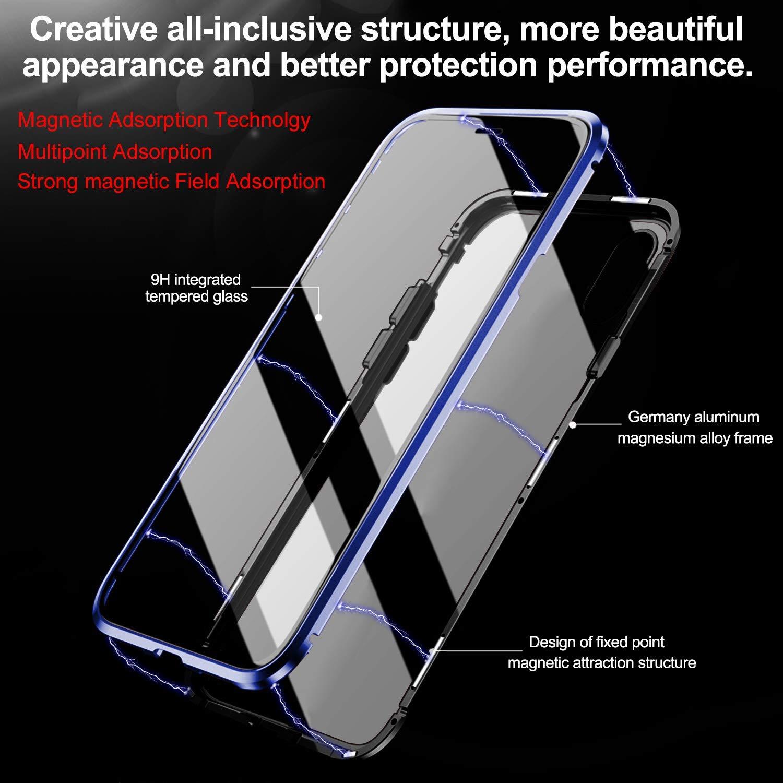 Caler H/ülle Kompatibel mit Samsung Galaxy S8+//S8 Plus Rundumschutz H/ülle Magnet Sto/ßfest Bumper Case Einteiliges 360 Grad Geh/ärtetes 9H Glas Handyh/ülle mit Panzerglas R/ückseite Vorne und Hinten Cover