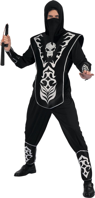 Generique - Disfraz de Ninja Esqueleto Hombre L: Amazon.es ...
