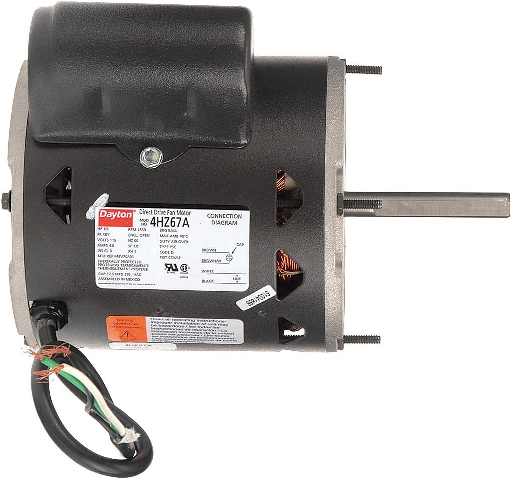 Motor, PSC, 1/3 HP, 1650 RPM, 115V, 48Y, OAO