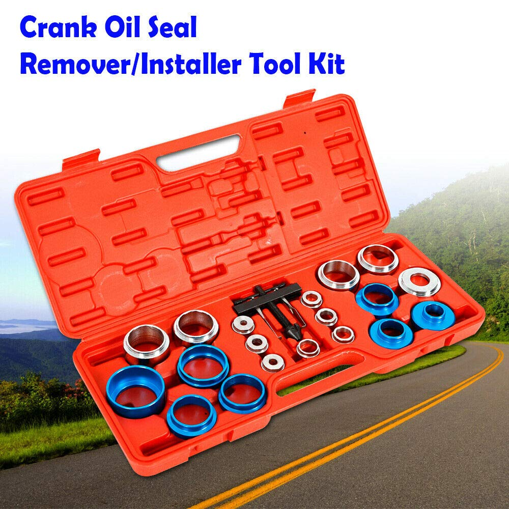 20Pcs Car Camshaft Crank Crankshaft Oil Seal Remover Installer Removal Tool Kit Universal Camshaft Bearing Remover Crank Seal Removal USA STOCK