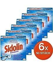 Sidolin feuchte Reinigungstücher für Brillen, Displays, Bildschirme (6 x 50 Stück)