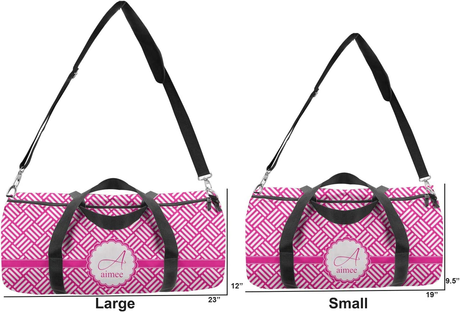 Personalized YouCustomizeIt Square Weave Duffel Bag