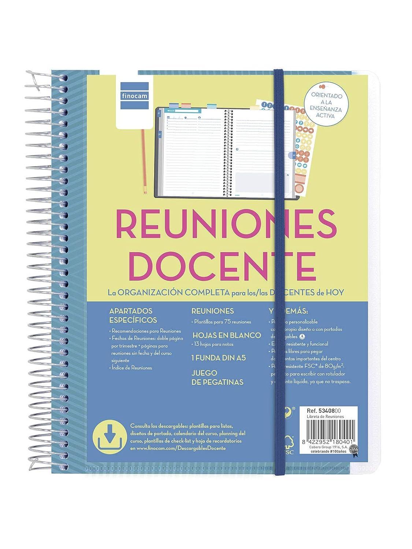 Libreta de reuniones docente español
