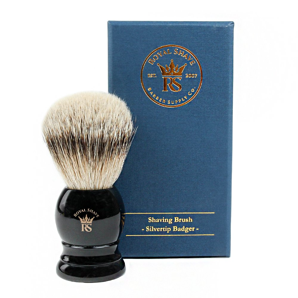 RoyalShave PB9 Silvertip Badger Hair Classic Wet Shaving Brush by Royal Shave