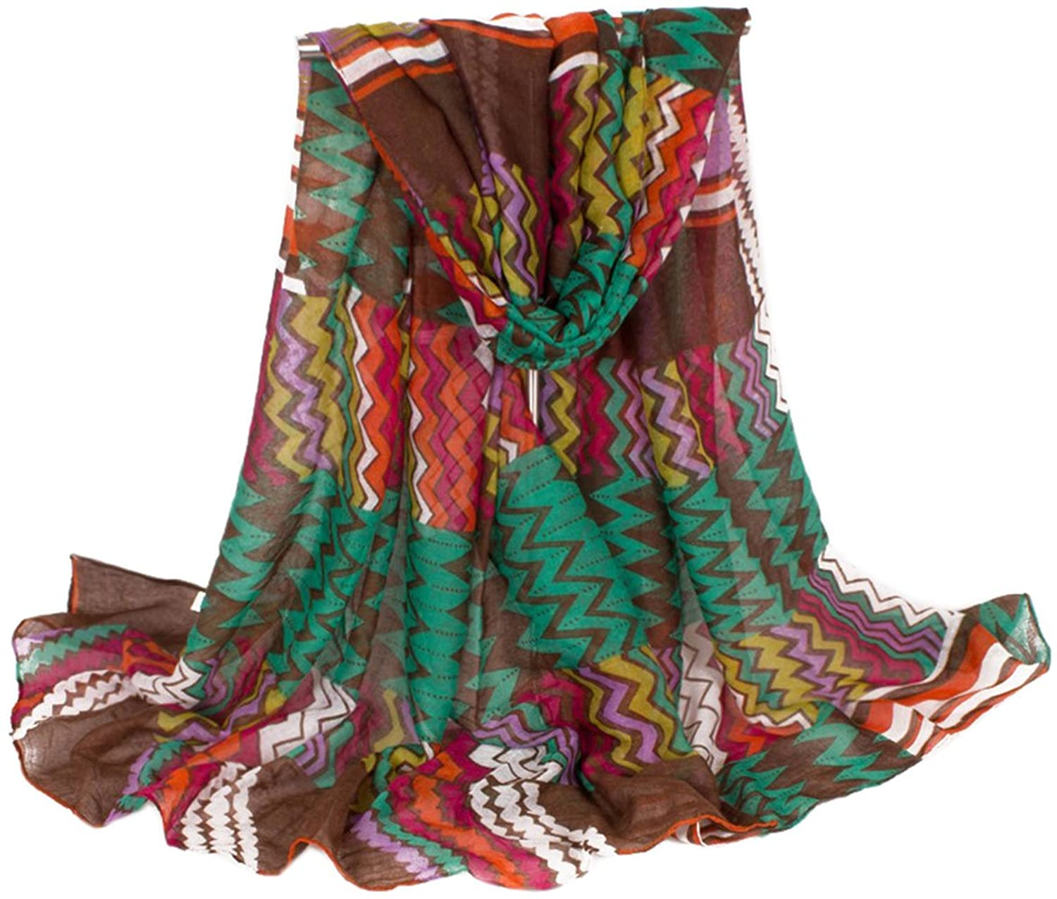 Bettyhome Fashion Girls Multicolor Bohemian Pattern Voile Women's Large Beach Scarf Shawl Lightweight