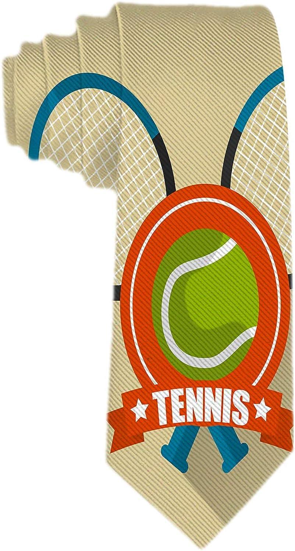 Web--ster Corbatas para hombres: Corbatas ajustadas y ajustadas Corbatas Thik para hombre Raquetas de tenis Corbatas deportivas cruzadas y con pelota para cada atuendo