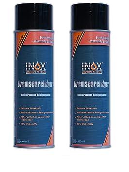 Inox freno limpiador 2 x 500 ml, acetonfrei - Limpiador de freno para coche: Amazon.es: Coche y moto
