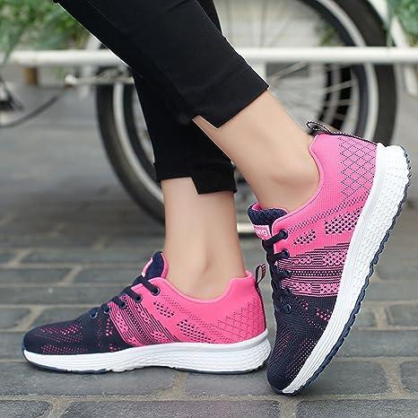 YiYLunneo Zapatos Mujer 2019 Malla Exterior Zapatillas Informales ...