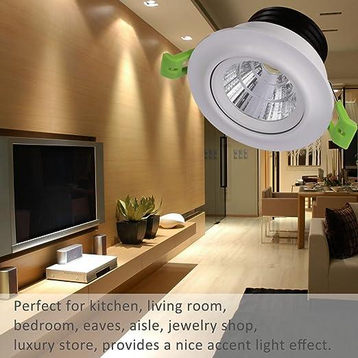 LEDMO 7W Einbaustrahler/ LED Einbaulichter Warmweiß Set 4er,LED  Einbauleuchten Einbauspots CRIu003e80,Decke Gehweg Schrank Holzbrücke Küche  Schlafzimmer: ...