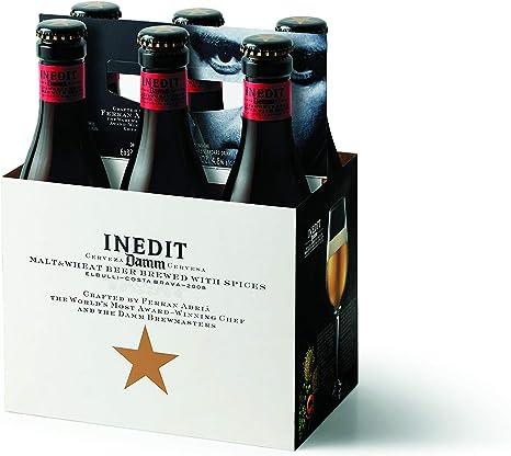 Cerveza de Malta y Trigo Inedit Cesta de 6 Botellas 33cl: Amazon.es: Alimentación y bebidas