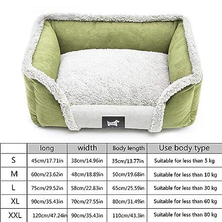 Cama ortopédica para perro, Suedette cama para perro, con base antideslizante impermeable, transpirable, extraíble, lavable, suave, cálida para todas las ...