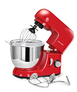 CHEFTRONIC Stand Mixers Tilt-head Household Aids Mixers Kitchen Electric Dough Mixer 120V/350W 4.2qt Stainless Steel Bowl