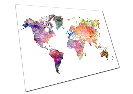 Eaposter world map watercolour wall art large a1 poster 33 x 23 inch eaposter world map watercolour wall art large a1 poster 33 x 23 inch gumiabroncs Images