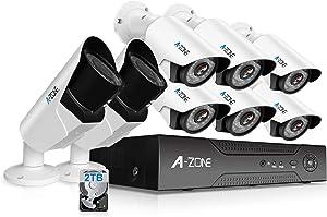 A-ZONE 8 CH 1080P DVR AHD Home Security...