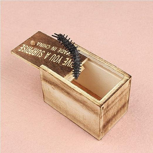 Bclaer72 - Caja mágica de Madera con puzle de Apertura Secreta, 9,3 cm x 6 cm x 6,5 cm, Caja de Regalo para el hogar, Oficina, Juguete, Broma, Broma, Navidad, al Azar: Amazon.es: Hogar