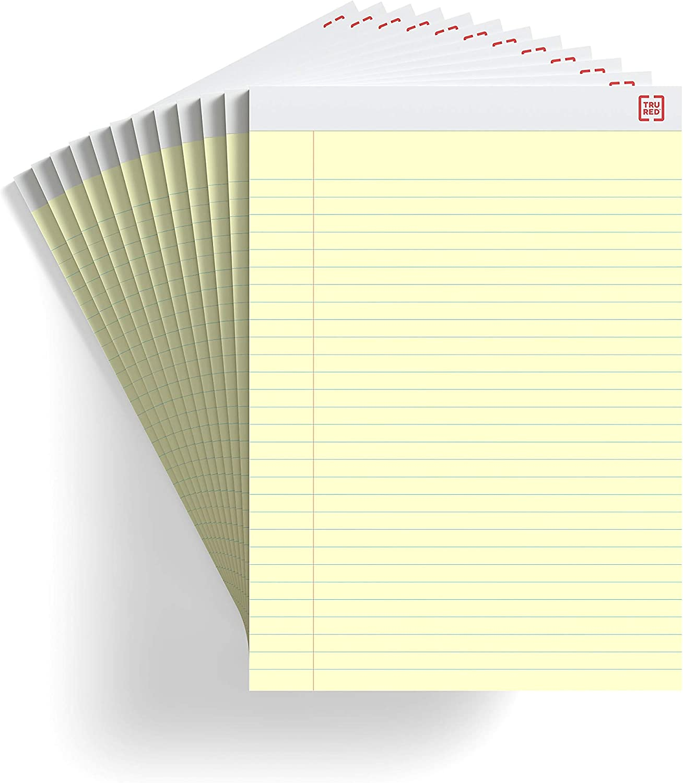 "Staples Notepads 5/"" x 8/"" Narrow White 50 Sh.//Pad 12 Pads//PK TR57330//18600"