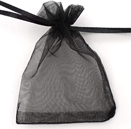 100Pcs Mini Gift Bags Pouches Organza Jewelry Drawstring Pouch For Wedding//Party