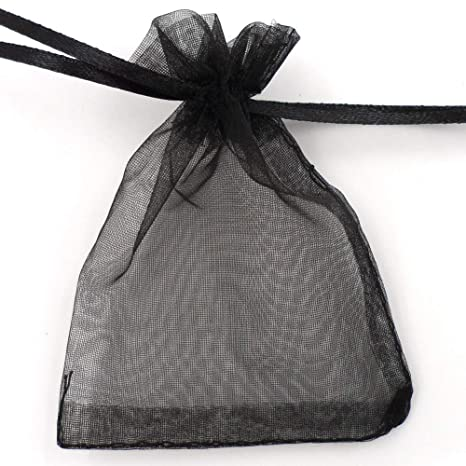 Amazon.com: ATCG 100 bolsas de organza con cordón de 5 x 7 ...