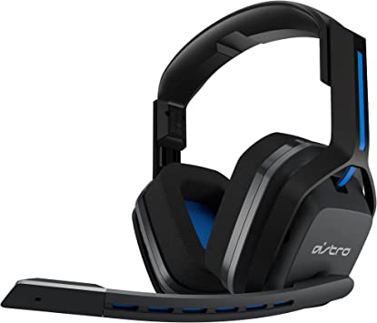 Astro Gaming A20 - Auriculares Gaming Inalámbricos, Astro Audio, Transductores 40 mm, Dolby Atmos/Windows Sonic 3D, 5GHz, Batería Larga 15 h, Microfóno Volteable para Silenciar, PC/Mac/PS4, Gris/Azul: Amazon.es: Informática