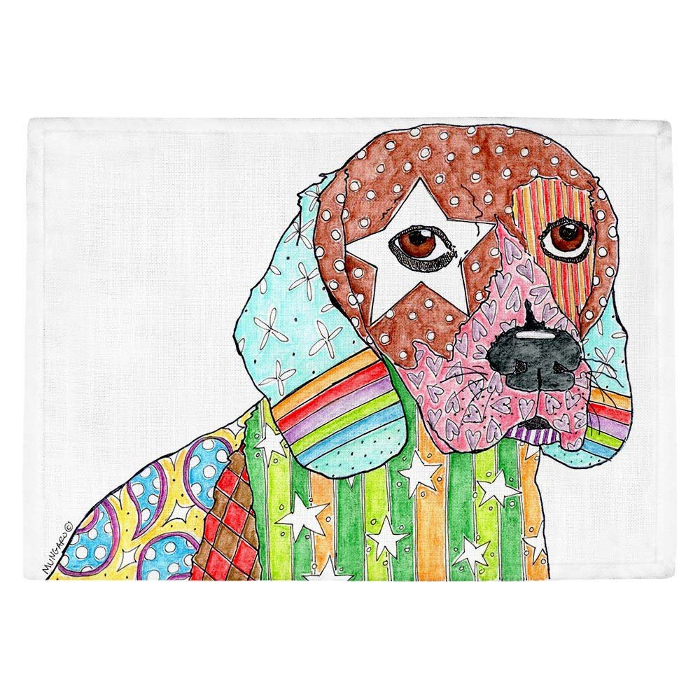 DIANOCHEキッチンPlaceマットby Marley Ungaro – ビーグル犬 Set of 4 Placemats PM-MarleyUngaroBeagle2 Set of 4 Placemats  B01EXSHBQK