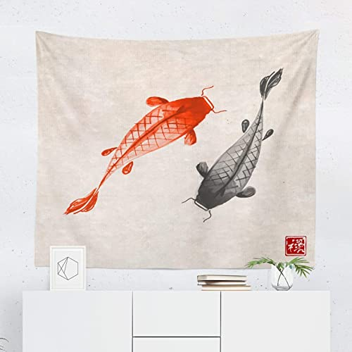 43ef952ded998 Oriental Tapestry - Koi Fish Asian Japanese Japan Wall Tapestries Hanging  Décor Bedroom Dorm College Living