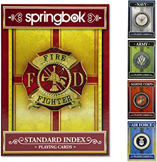 product image for Springbok - United States Firefighter Playing Cards - Officially Licensed 52 Playing Card Deck - Made in USA