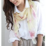 ストール専門店LALA Boutique 花柄シフォンスカーフ全12色# 花柄シフォンスカーフ/シフォン/ストール/レディース