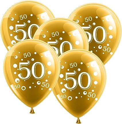 25 große Luftballons in gold zur Goldhochzeit