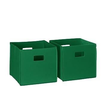 RiverRidge Kids 2pc Soft Storage Bins U2013 Green
