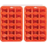 2 Pack Value Silicone Molds Pet Mini Treat Bones, Animal Bones for Homemade Dog & Cat Treats, Baking Chocolate Candy, Oven Microwave Freezer Safe (Mini Bone (2 Pack))