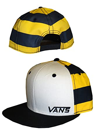 Vans Gorra de Beacon de color blanco azul marino negro amarillo ...