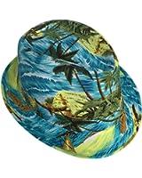 Smile YKK Unisex Couple Beach Brim Fedora Top Bucket Hat