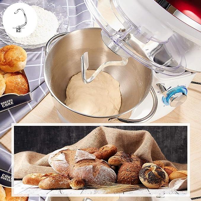 Robot de cocina, amasadora (1400 W, con bol de acero inoxidable de ...