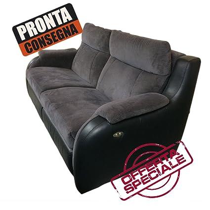 4d Arreda sofá 3 plazas doble Relax eléctrico reposacabezas ...