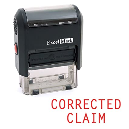 amazon com corrected claim self inking rubber stamp red ink